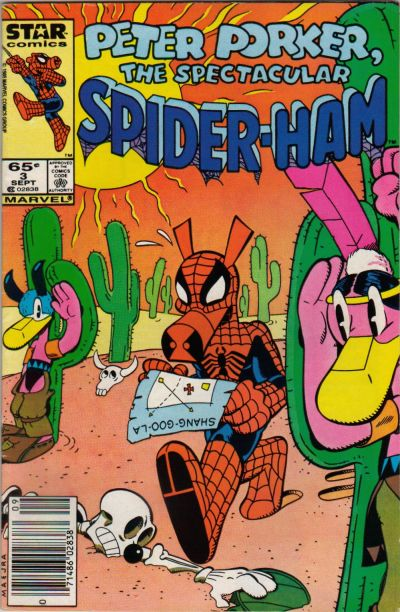 Cover for Peter Porker, the Spectacular Spider-Ham (Marvel, 1985 series) #3 [direct]