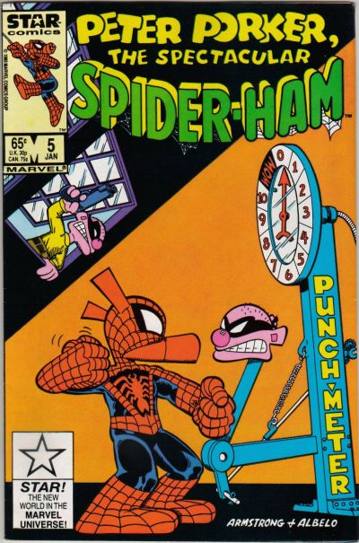 Cover for Peter Porker, the Spectacular Spider-Ham (Marvel, 1985 series) #5