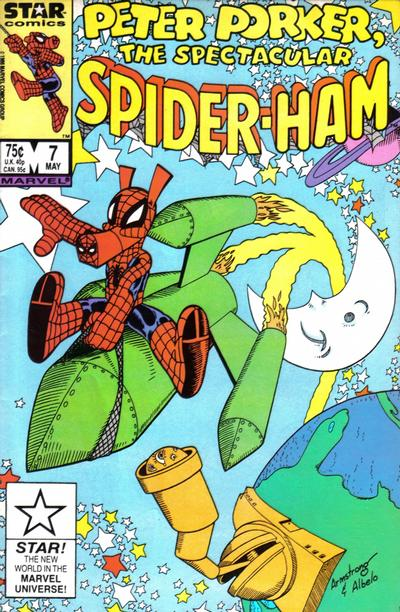 Cover for Peter Porker, the Spectacular Spider-Ham (Marvel, 1985 series) #7