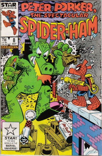Cover for Peter Porker, the Spectacular Spider-Ham (Marvel, 1985 series) #8 [Direct]