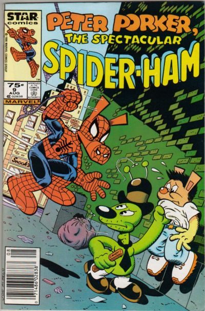 Cover for Peter Porker, the Spectacular Spider-Ham (Marvel, 1985 series) #9 [Newsstand]