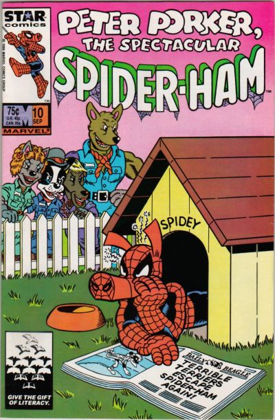 Cover for Peter Porker, the Spectacular Spider-Ham (Marvel, 1985 series) #10 [Newsstand Edition]