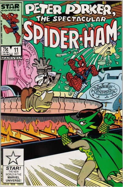 Cover for Peter Porker, the Spectacular Spider-Ham (Marvel, 1985 series) #11 [Newsstand Edition]