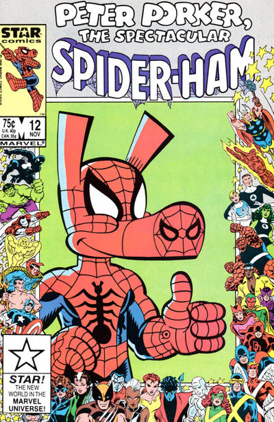 Cover for Peter Porker, the Spectacular Spider-Ham (Marvel, 1985 series) #12
