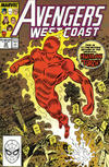 Cover for Avengers West Coast (Marvel, 1989 series) #50 [Direct]