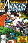 Cover for Avengers West Coast (Marvel, 1989 series) #55 [Direct]