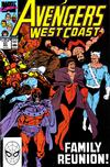 Cover for Avengers West Coast (Marvel, 1989 series) #57 [Direct]