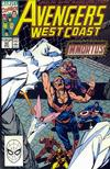Cover for Avengers West Coast (Marvel, 1989 series) #62 [Direct]