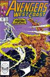 Cover for Avengers West Coast (Marvel, 1989 series) #63 [Direct]