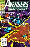 Cover for Avengers West Coast (Marvel, 1989 series) #64 [Direct]