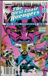 Cover for The West Coast Avengers Annual (Marvel, 1986 series) #3 [Newsstand]