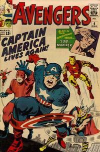 Cover Thumbnail for The Avengers (Marvel, 1963 series) #4 [Regular Edition]