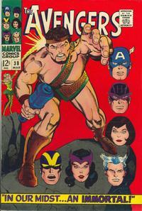 Cover Thumbnail for The Avengers (Marvel, 1963 series) #38 [Regular Edition]