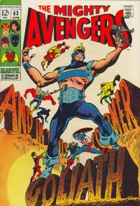 Cover Thumbnail for The Avengers (Marvel, 1963 series) #63 [Regular Edition]