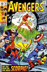 Cover Thumbnail for The Avengers (Marvel, 1963 series) #72 [Regular Edition]