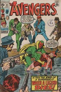 Cover Thumbnail for The Avengers (Marvel, 1963 series) #81 [Regular Edition]