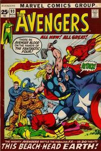 Cover Thumbnail for The Avengers (Marvel, 1963 series) #93 [Regular Edition]
