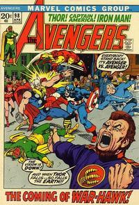 Cover Thumbnail for The Avengers (Marvel, 1963 series) #98 [Regular Edition]