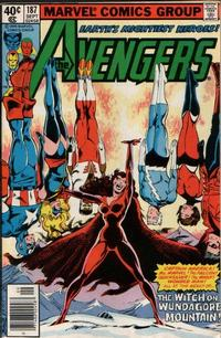 Cover Thumbnail for The Avengers (Marvel, 1963 series) #187 [Newsstand Edition]