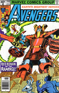 Cover Thumbnail for The Avengers (Marvel, 1963 series) #198 [Newsstand Edition]