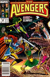 Cover Thumbnail for The Avengers (Marvel, 1963 series) #284 [Newsstand Edition]