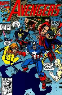 Cover Thumbnail for The Avengers (Marvel, 1963 series) #343 [Direct Edition]