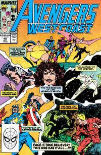 Cover Thumbnail for Avengers West Coast (Marvel, 1989 series) #49 [Direct Edition]