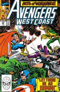 Cover Thumbnail for Avengers West Coast (Marvel, 1989 series) #55 [Direct]
