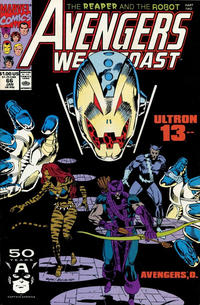 Cover for Avengers West Coast (Marvel, 1989 series) #66 [Direct Edition]