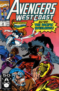 Cover Thumbnail for Avengers West Coast (Marvel, 1989 series) #70 [Direct Edition]