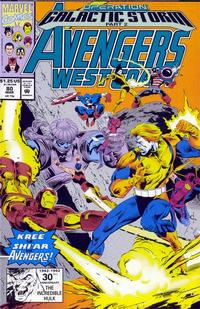 Cover Thumbnail for Avengers West Coast (Marvel, 1989 series) #80 [Direct Edition]