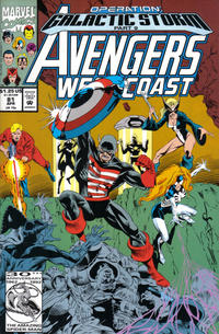 Cover Thumbnail for Avengers West Coast (Marvel, 1989 series) #81 [Direct Edition]