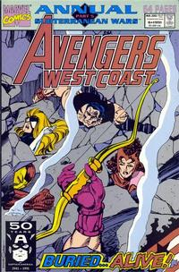 Cover Thumbnail for Avengers West Coast Annual (Marvel, 1990 series) #6 [Direct]