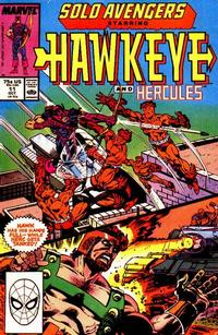 Cover Thumbnail for Solo Avengers (Marvel, 1987 series) #11 [Direct]