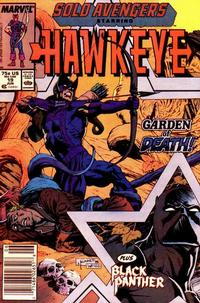 Cover Thumbnail for Solo Avengers (Marvel, 1987 series) #19 [Newsstand]