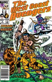 Cover Thumbnail for West Coast Avengers (Marvel, 1985 series) #3 [Newsstand Edition]