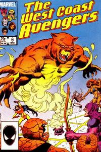 Cover Thumbnail for West Coast Avengers (Marvel, 1985 series) #6 [Direct]