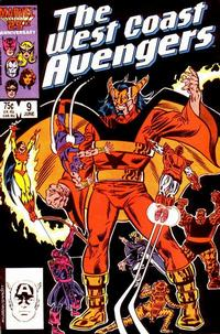Cover Thumbnail for West Coast Avengers (Marvel, 1985 series) #9 [Direct Edition]