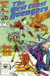 Cover Thumbnail for West Coast Avengers (Marvel, 1985 series) #10 [Direct Edition]