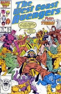 Cover Thumbnail for West Coast Avengers (Marvel, 1985 series) #15 [Direct Edition]