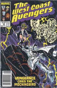 Cover Thumbnail for West Coast Avengers (Marvel, 1985 series) #23 [Newsstand Edition]
