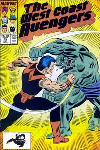 Cover Thumbnail for West Coast Avengers (Marvel, 1985 series) #25 [Direct Edition]