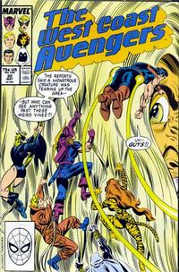 Cover Thumbnail for West Coast Avengers (Marvel, 1985 series) #32 [Direct Edition]