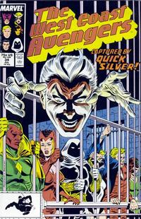 Cover Thumbnail for West Coast Avengers (Marvel, 1985 series) #34 [Direct Edition]