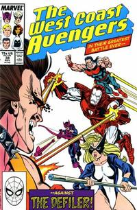 Cover Thumbnail for West Coast Avengers (Marvel, 1985 series) #38 [Direct Edition]