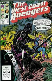Cover Thumbnail for West Coast Avengers (Marvel, 1985 series) #39 [Direct Edition]