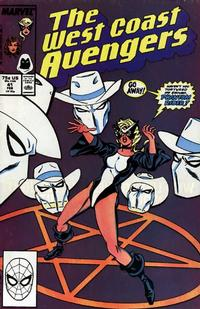 Cover Thumbnail for West Coast Avengers (Marvel, 1985 series) #41 [Direct Edition]