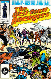 Cover Thumbnail for The West Coast Avengers Annual (Marvel, 1986 series) #2 [Direct]