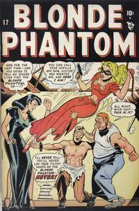 Cover Thumbnail for Blonde Phantom Comics (Marvel, 1946 series) #17
