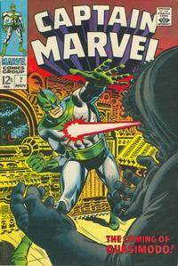 Cover Thumbnail for Captain Marvel (Marvel, 1968 series) #7